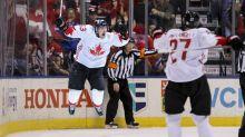 Brad Marchand, Marc-Édouard Vlasic troll NHL on Olympics