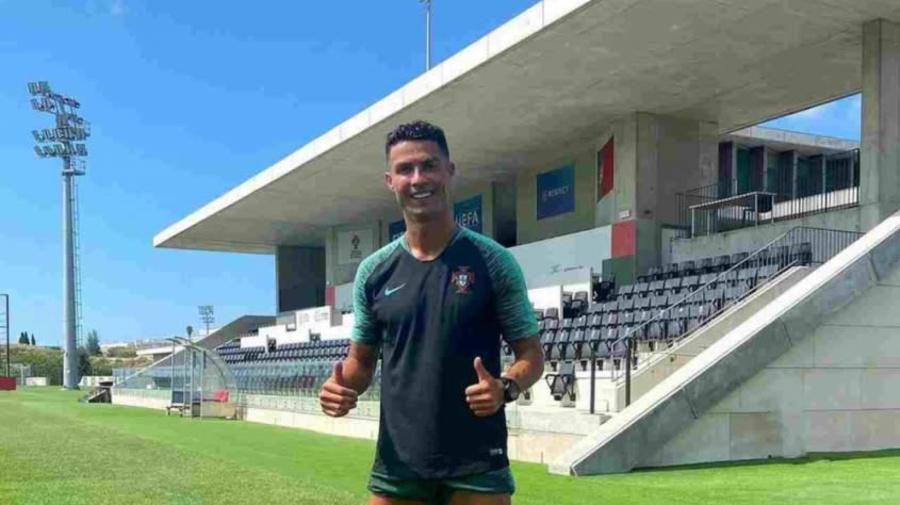 Sem definir situação na Juventus, Cristiano Ronaldo treina em CT de Portugal