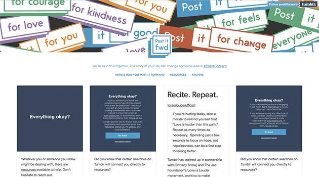 Tumblr encourages users to speak up about mental health issues