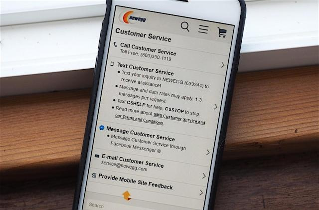 Newegg to offer customer support via Facebook Messenger