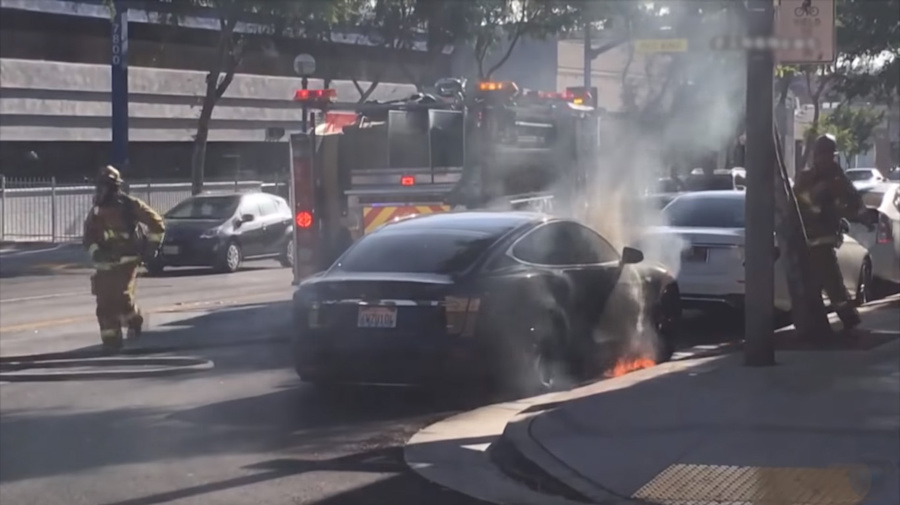 Tesla Catches Fire in the US, Faulty Battery Probable Cause
