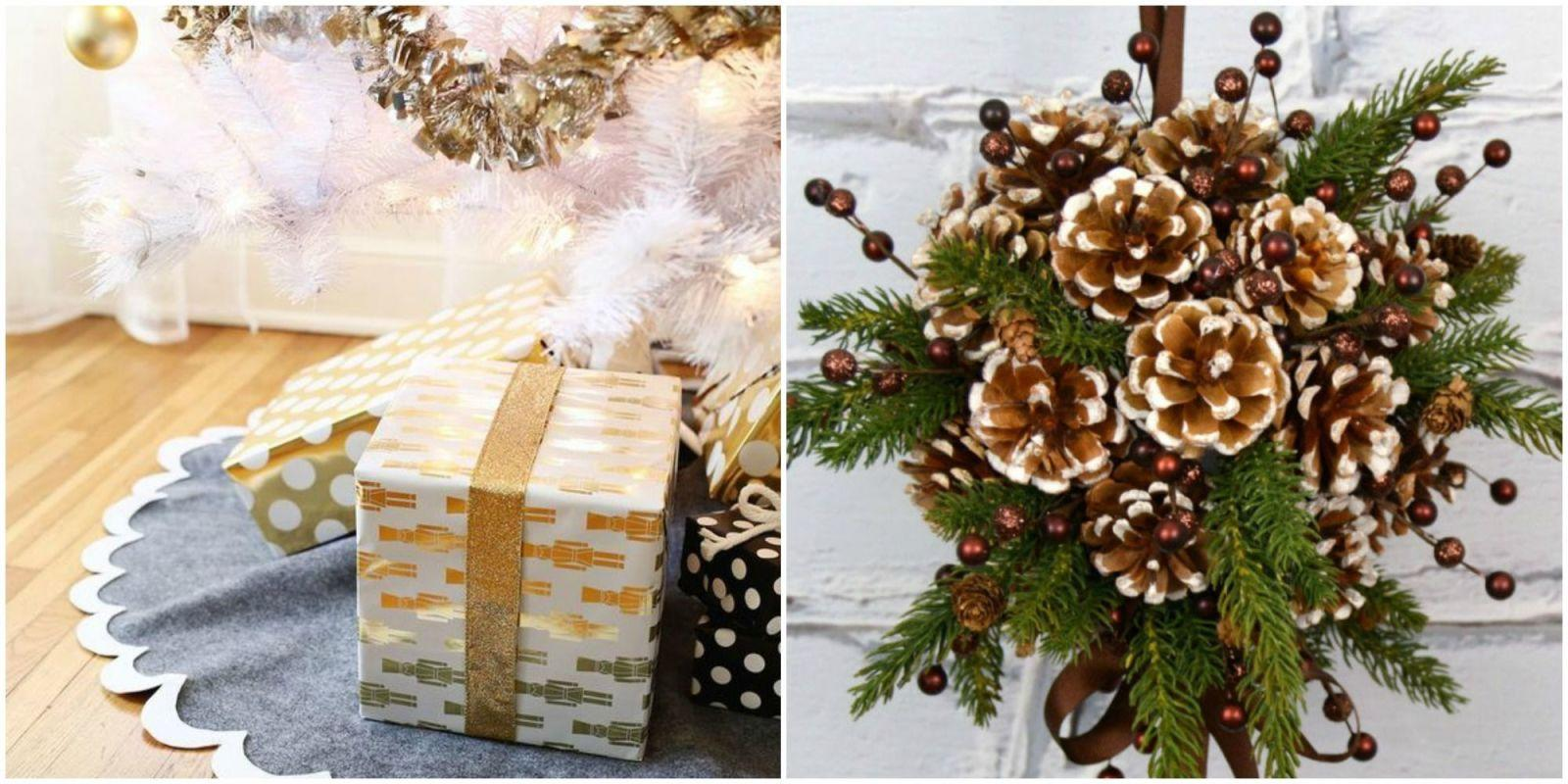 19 diy christmas decorations that look so elegant for Five homemade christmas tree topper ideas