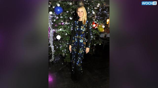 Gwyneth Paltrow Blends In With A Tree