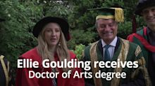 Ellie Goulding takes a swipe at Trump when receiving honorary degree