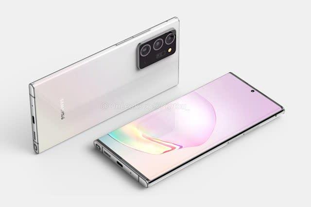 Samsung Galaxy Note 20 渲染圖曝光, 吸收多項 S20 Ultra 的特點