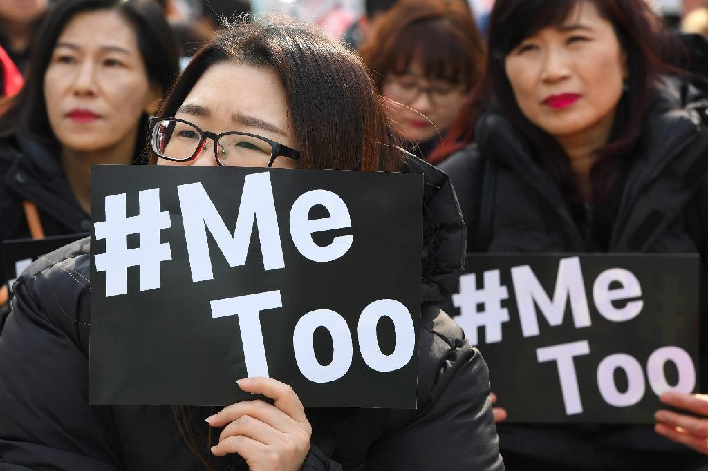 Patriarchal values remain deeply ingrained in South Korea despite economic and technological advances, but Seo's courage opened the floodgates and gave other women the courage to come forward (AFP Photo/Jung Yeon-je)