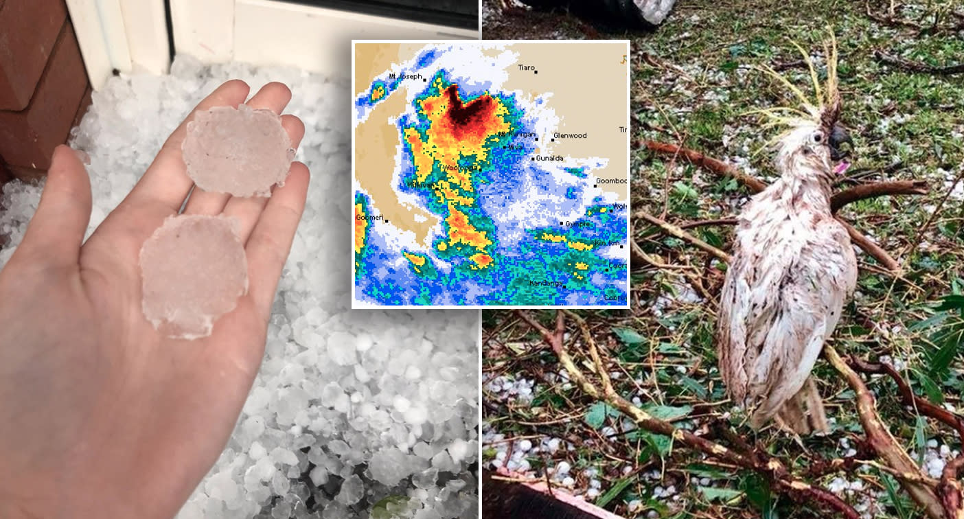 Tornado, massive hail stones smash Queensland amid severe thunderstorm warning