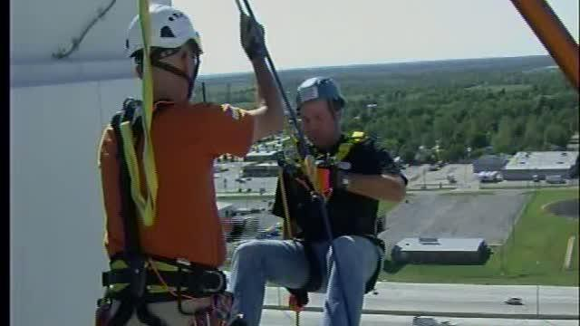 Rappelling for Special Olympics