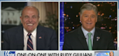 Rudy Giuliani, left, and Sean Hannity. (Fox News)