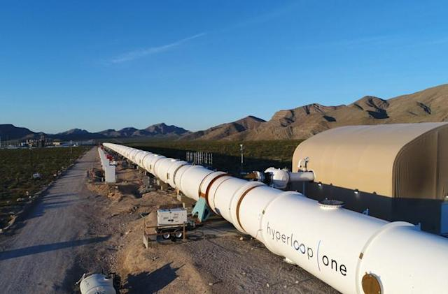 Hyperloop One's test route is ready to run