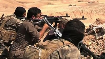 Raw: Security Forces Battle Militants in Iraq