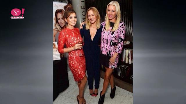 Cheryl looks gorge at Kimberley's book launch