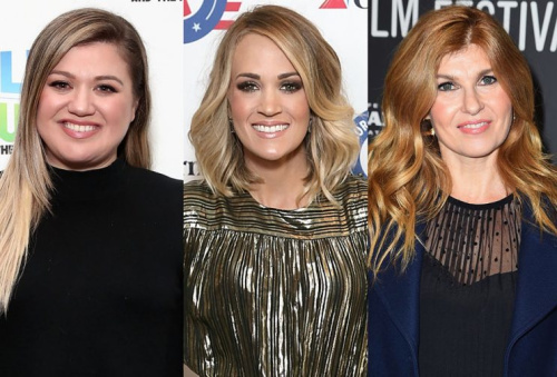 Kelly Clarkson, Carrie Underwood, and Connie Britton.