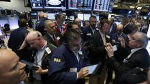 US STOCKS-Solid data, trade hopes lift Wall St to records