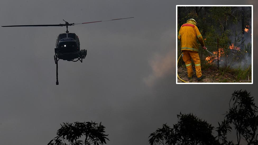 'It's too late to leave' for residents under threat from fire near Sydney