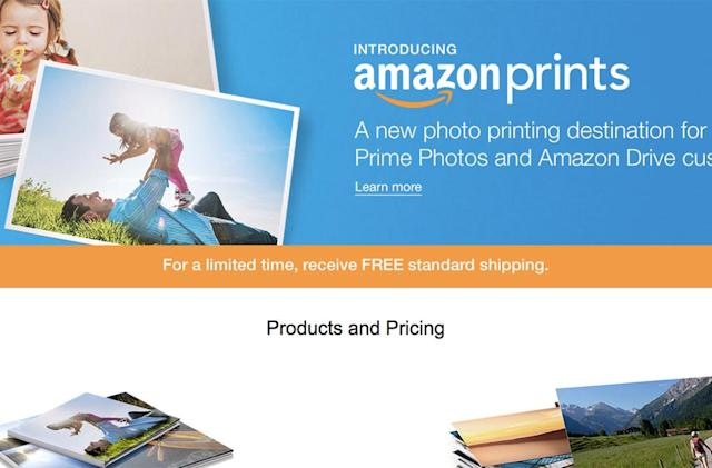 Amazon takes aim at Shutterfly with photo printing service
