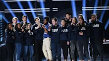 Shawn Mendes and Khalid perform with Parkland survivors at Billboard Music Awards
