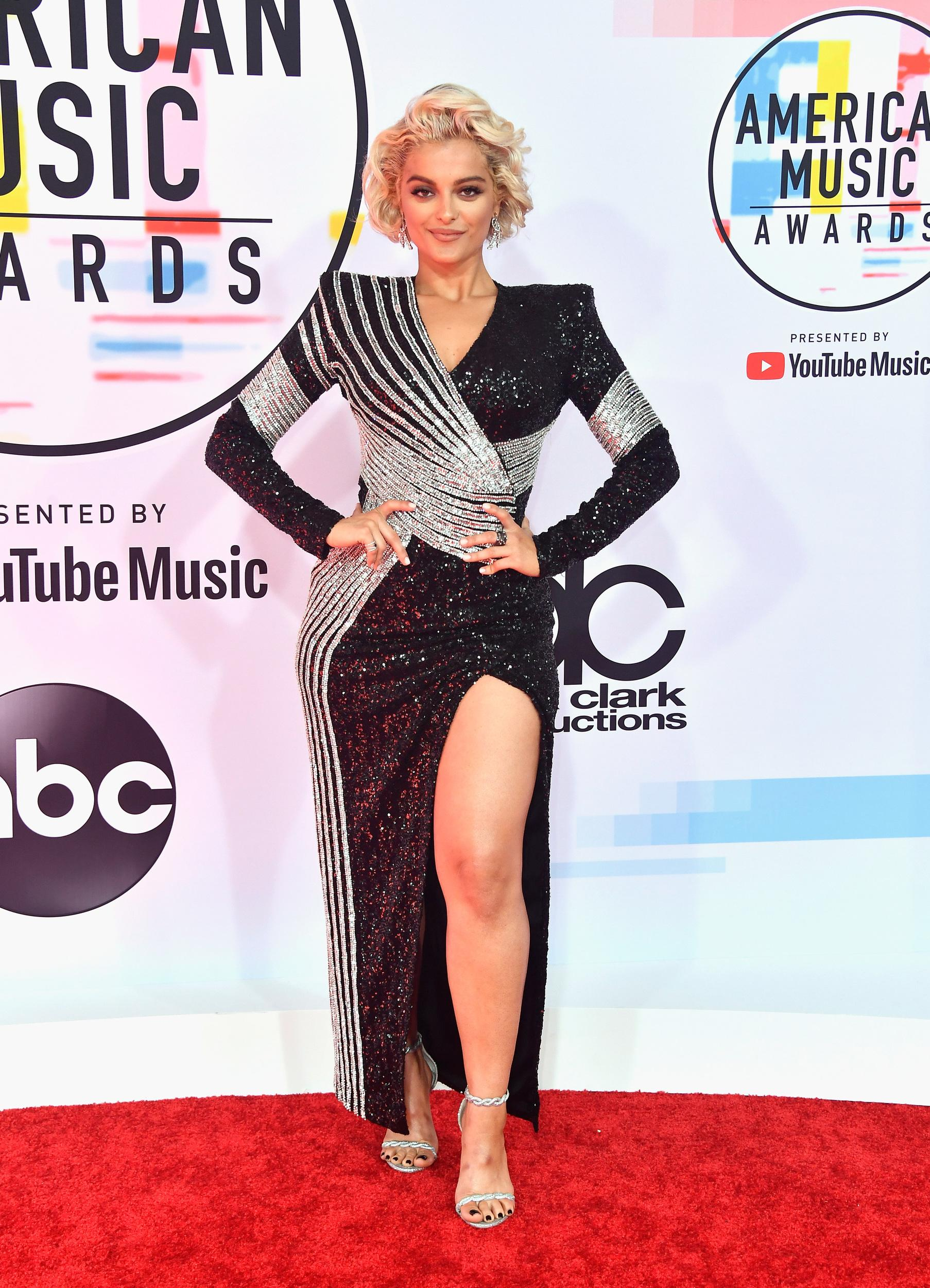LOS ANGELES, CA - OCTOBER 09:  Bebe Rexha attends the 2018 American Music Awards at Microsoft Theater on October 9, 2018 in Los Angeles, California.  (Photo by Frazer Harrison/Getty Images)