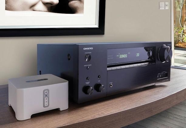 Onkyo's high-end receivers will link up with Sonos
