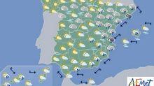Mañana, lluvias fuertes en Málaga, Girona, Murcia y Comunidad Valenciana