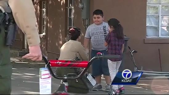 BCSO surprises boy with new bike