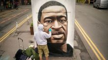 George Floyd mural in Manchester defaced with 'utterly sickening' racist slur