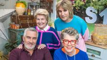 'Bake Off' hosts Noel and Sandi transform into Paul Hollywood and Prue Leith