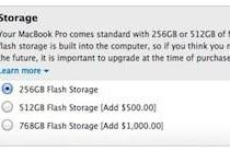 Entry Retina MacBook Pro now available with 512 GB, 768 GB drives