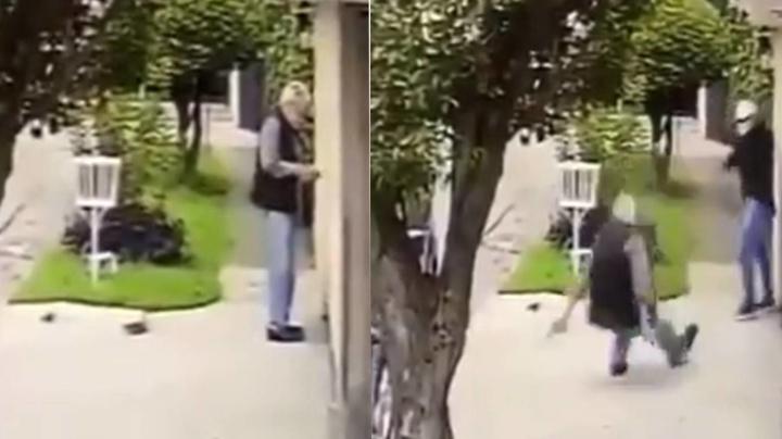 Derriba y encañona a anciano para robarle su pensión