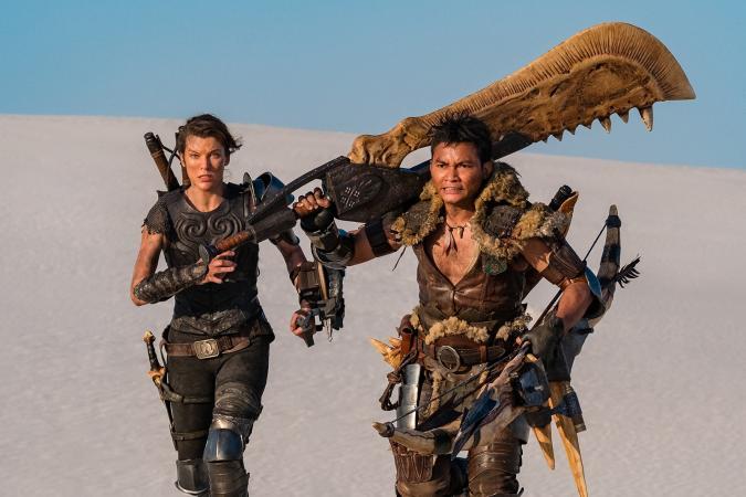 Milla Jovovich and Tony Jaa in the 'Monster Hunter' movie