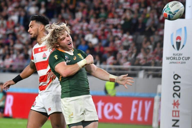 South Africa scrum-half Faf de Klerk scored a try in the second half (AFP Photo/Kazuhiro NOGI)