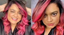 """Após assumir grisalho, Preta pinta o cabelo de pink: """"Vocês venceram"""""""