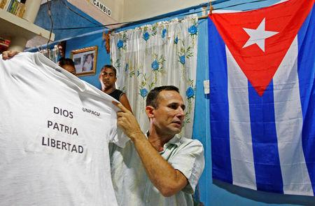 FILE PHOTO: Cuban dissident Jose Daniel Ferrer gives an interview to Reuters in his home Palmarito de Cauto