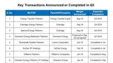ETP, EEP, DM: MLP Sector Mergers Continue in Third Quarter