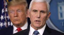 Mike Pence deletes tweet praising Trump on coronavirus as US death toll nears 192,000
