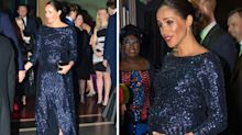 Meghan Markle wows in a sequin Roland Mouret dress for theatre date with Harry