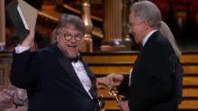 Oscars 2018: Guillermo del Toro turns Best Picture win into a joke