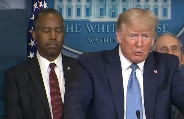 Did Ben Carson Fall Asleep During Trump's Coronavirus Briefing? Twitter Users Sure Thought So