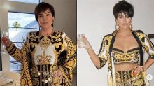 Khloe Kardashian recreates Kris Jenner's look