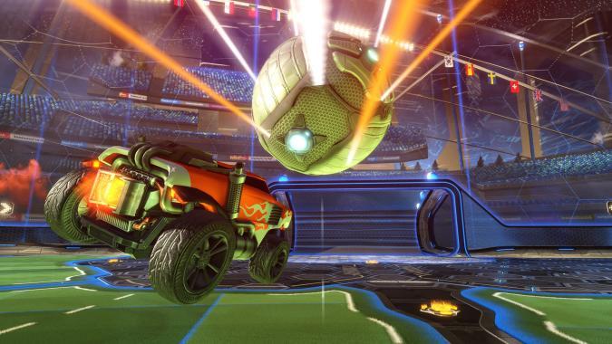 Este partido de Rocket League termina con un peculiar 'que no caiga'