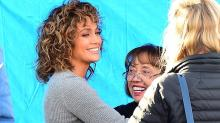 Jennifer Lopez Spends Time With Her Mom and Boyfriend Alex Rodriguez's Mom at the Set of 'Shades of Blue'