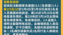 武漢肺炎台灣新增7例境外移入 活動地以美國為多