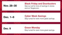 Target Introduces HoliDeals and Unveils Biggest Black Friday Yet with Two-Day Preview Sale and Expanded Early Access
