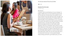 Customer's bad restaurant review backfires