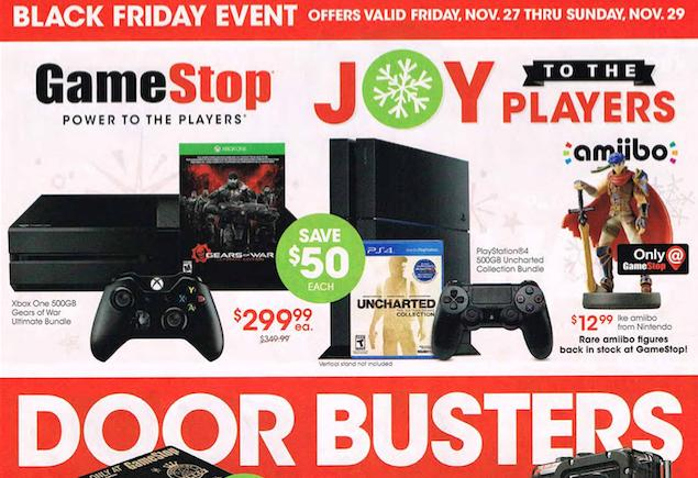 GameStop's full Black Friday ad leaks: Hot PS4, Xbox One and