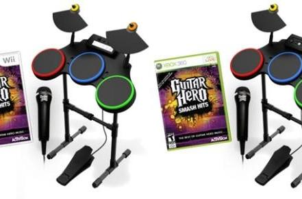 Today only: get Guitar Hero Smash Hits with drum, microphone for $99