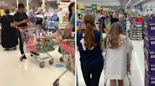 Panic-buying chaos at Coles, Woolworths ahead of 3-day lockdown