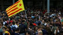 Catalonia refuses to renounce independence, separatist protesters rally