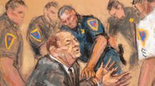 Harvey Weinstein courtroom artist says he 'really withered away' during trial