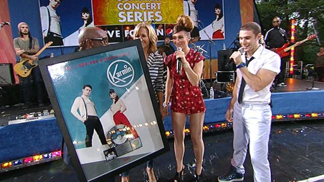 L.A. Reid Awards Karmin With Platinum Album on 'GMA'